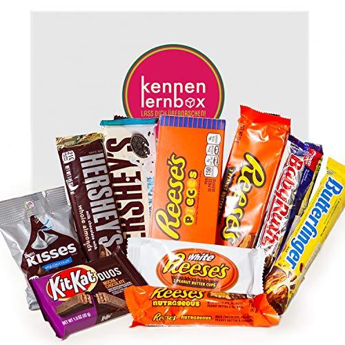 Schoko Box aus Amerika | Kennenlernbox mit 10 beliebten Schokolade aus den USA | Geschenkidee für besondere Anlässe wie Geburtstage