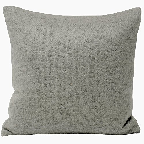 Riva Paoletti Kendal Cushion Cover - Light Grey - Faux Mohair Fabric - Knife Edging - 100% Polyester - 45 x 45cm (18' x 18' inches) - Designed in the UK