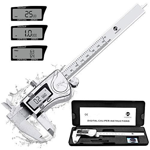 Digital Caliper, MOOCK 0-6 inches Calipers Measuring Tool with...