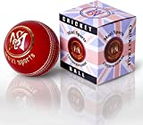 Mozi Sports Leather Cricket Ball Senior Hand Stitched Match Quality Balls Weight 5.50oz
