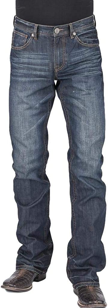 Stetson Free shipping Western Jean Mens Relaxed Fit x Blue 36 Max 48% OFF 11-004-1312-4 34