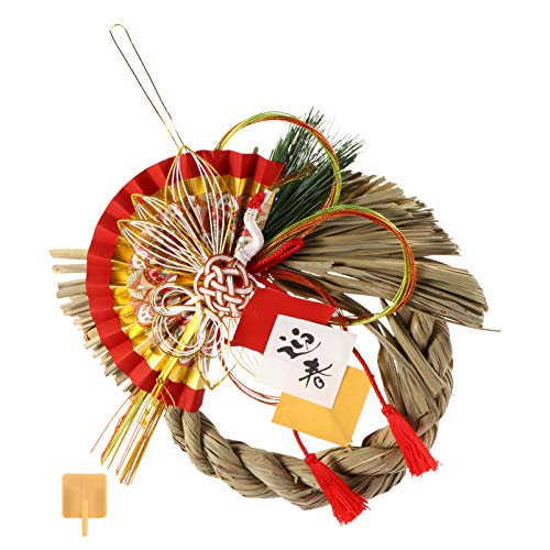 WINOMO Japanese Hanging Ornaments Straw Wall Pendant Straw Exorcise Evil Ornament for Good Luck Wall Sushi Restaurant Hanging Door Decoration