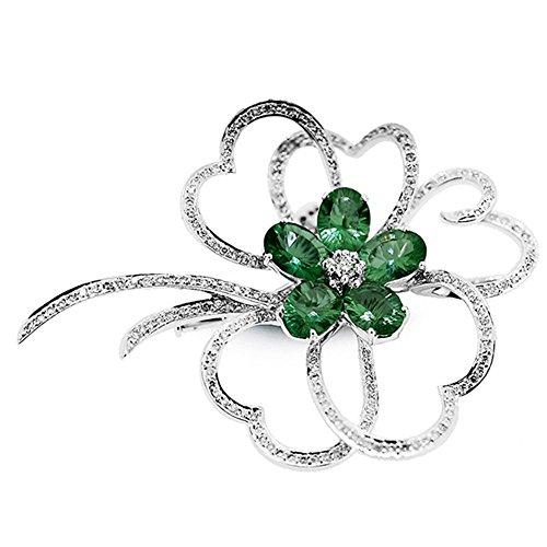 Diamantes y esmeralda broche rbd4845por staviori®