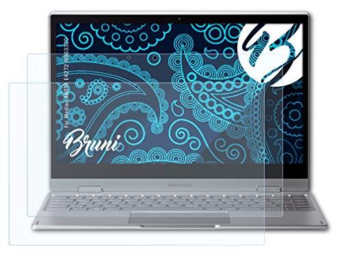 Bruni Schutzfolie kompatibel mit Medion AKOYA E4272 MD63320 Folie, glasklare Bildschirmschutzfolie (2X)