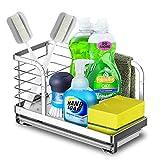 lavandino caddy organizer, mefine organizzatore per lavello, porta spugna, porta utensili da cucina della lavello acciaio inox (24 x 15 x 12 cm)