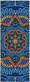 JACKWS Yoga Mat Set, Yoga Mat 5 Mm Gamuza TPE Yoga Mat Pad Antideslizante Que Adelgaza la Aptitud del Ejercicio colchoneta de Gimnasia Pesas Esterilla Pilates183 * 61cm (Color : Blue)