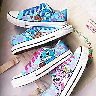 Stitch Shoes Custom Anime Sneakers Hand Painted Shoes Men Women Fashion Sneakers