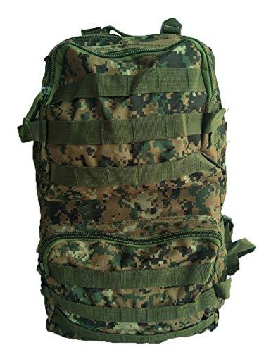 TurnerMAX Impermeabile 3D Campeggio Zaini Mobile tattico Militare dell' Esercito Arrampicata Borsa da Viaggio 45l, Jungle Digital