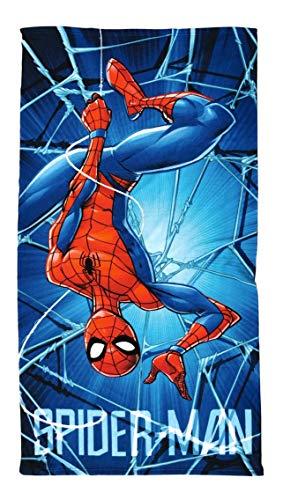 Toalla de mano para niños, para sauna, playa, ducha, baño, 70 x 140 cm, microfibra de regalo (Spiderman)