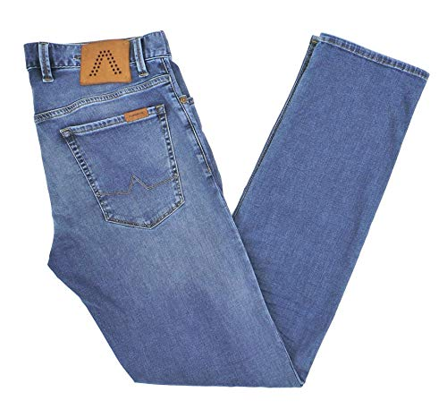 ALBERTO Herren Jeans Pipe Light Tencel Denim in 34/34