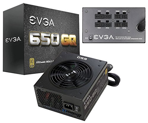 EVGA 650 GQ Power Supply - 650W - ATX12V/EPS12V - 1 Fans - Modular -...
