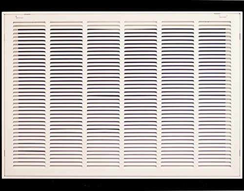 32' X 25 Steel Return Air Filter Grille for 1' Filter - Removable Face/Door - HVAC Duct Cover - Flat Stamped Face - White [Outer Dimensions: 34.5 X 26.75]