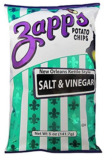 Zapp's Kettle Style Potato Chips-Salt & Vinegar Flavor - 5 Oz. (2 Pack)