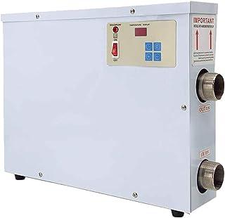 TABODD Calefacción eléctrica para piscina, 11 kW, 220 V, para piscina, para spa, intercambiador de calor, termostato para una piscina con ≤ 259 ft³