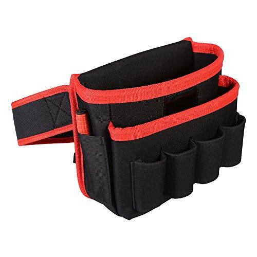 Bolsa de herramientas multifuncional Bolsas organizadoras de trabajo de lona Bolsa de almacenamiento de herramientas 8 bolsillos Cinturón ajustable