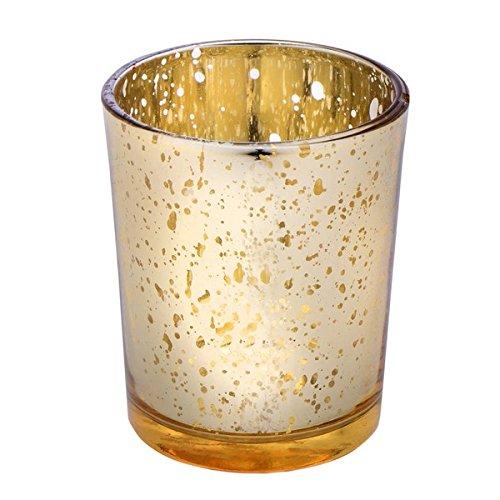 Club Green glazen kandelaar, goud, 55 x 65 mm