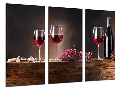 Cuadro Fotográfico Vino Tinto, Uvas, Bodega Tamaño total: 97 x 62 cm XXL