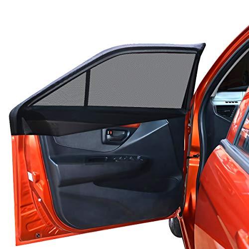 ウインドーネット 2枚入り 虫よけ 車用網戸 リアドア用 遮光サンシェード 日除け(サイズ:126×52cm)