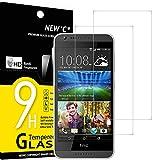NEW'C 2 Unidades, Protector de Pantalla para HTC Desire 620, Antiarañazos, Antihuellas, Sin Burbujas, Dureza 9H, 0.33 mm Ultra Transparente, Vidrio Templado Ultra Resistente