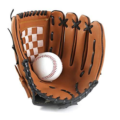 Odoukey Baseballhandschuh Sport Batting Handschuhe Softball-PU-Leder-Training und Wettkampf Baseball Mitt Left Hand 9,5 inch