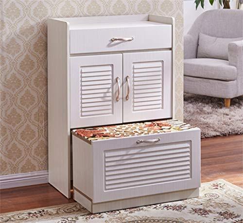 GUOCAO Armario para zapatos ultrafino de entrada simple moderno de madera maciza para el vestíbulo del gabinete del zapatero del hogar