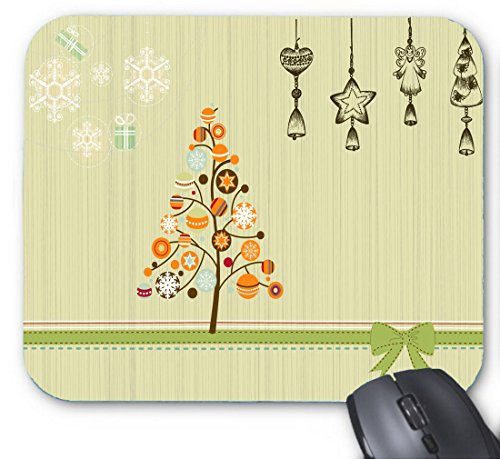 Gaming Mouse Pad Cute Christmas Tree Lighting Clip Art Fireworks Explode for Desktop and Laptop 1 Pack 30x25x2cm/11.8x9.8x0.8inch