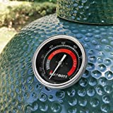 Upgrade Thermometer Replacement for Big Green Egg Parts,BGE Temperature Gauge for Green Egg Accessories 150-900°F with 3.3' Large Dial Waterproof and No-Fog Glass Lens(New Version)