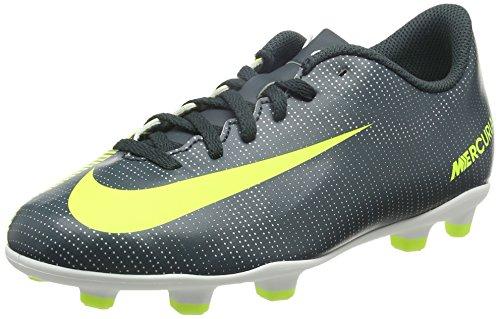Nike Unisex-Kinder JR Mercurial Vortex III CR 7 FG Fußballschuhe, Schwarz (Seaweed/Volt/Hasta/White/MTLC Silver), 38.5 EU