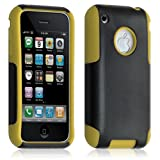 ATM ENTERPRISES Funda Funda Carcasa para Apple iPhone 3G/3Gs Color Amarillo + película de protección