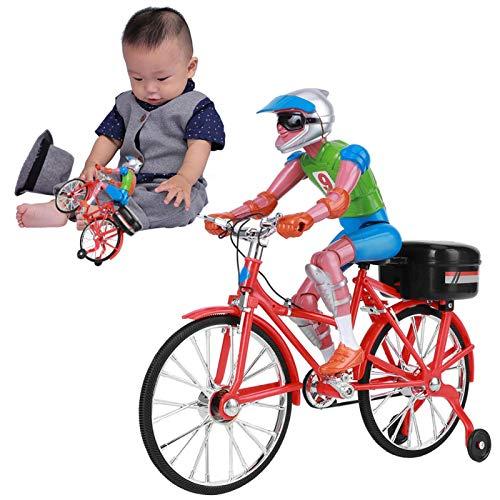 FOLOSAFENAR Juguetes para Bicicletas, Juguete Modelo De Bicicleta No Tóxico para Regalo para Mayores De 7 Años(Rojo, Bicicleta eléctrica)