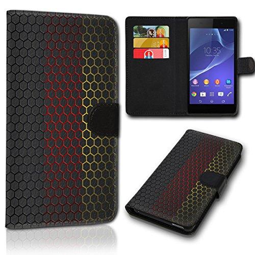 sw-mobile-shop Book Style Wiko Wax Tasche Flip Brieftasche Handy Hülle Kartenfächer für Wiko Wax - Design Flip SVH95