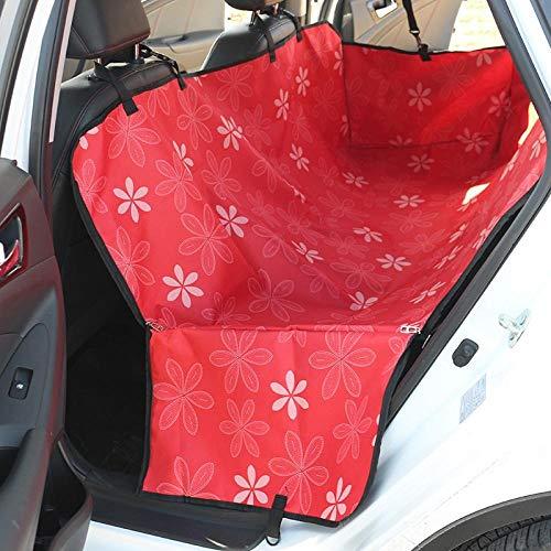 Hund Beifahrersitz Rotes Blumenmuster Hundedecke für Auto für SUV Cr-V und Die Meisten Autos