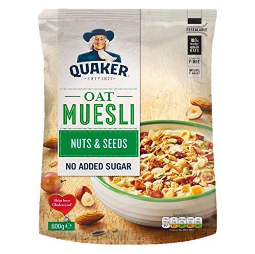 Quaker Muesli con Frutos Secos y Semillas, 600g