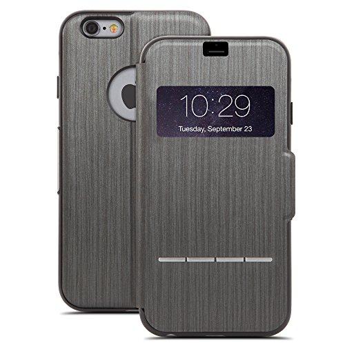Moshi SenseCover - Funda para Apple iPhone 6 Plus (con S-View), negro