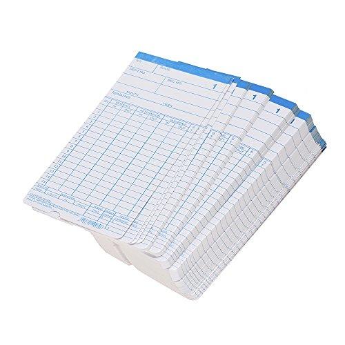 Aibecy 90 teile/paket Zeit Karten Timecards Monatliche 2-seitige 18 * 8,4 cm für Mitarbeiter Anwesenheitszeit Clock Recorder