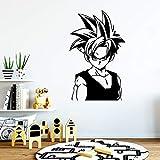 Estilo de dibujos animados Goku Dragon Ball pegatina papel de vinilo resistente al agua para sala de niños sala de estar decoración del hogar decoración de pared mural sala de juegos club 43cm X 69cm