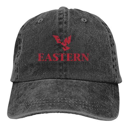 Ewu Commemorate Casquette Cap Vintage Adjustable Unisex Baseball Hat Black