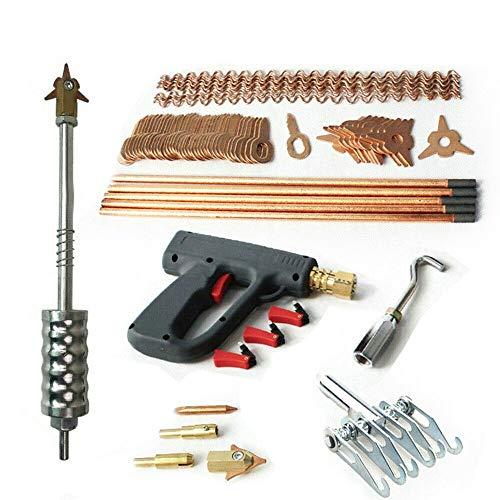 BoTaiDaHong BTDH 86PCS Dent Puller Welder Kit Car Body Spot Repair Device Stud Welding Hammer Gun Mini Welding Machine Tool for Dent Repair of Car