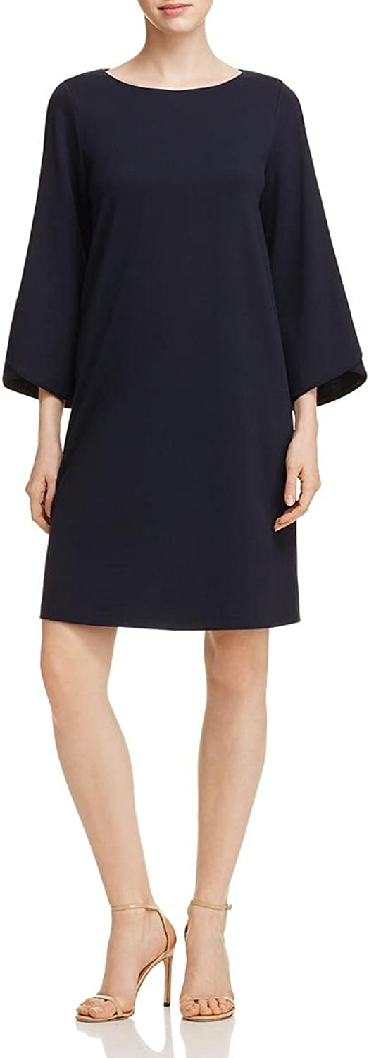 Lafayette 148 New York Womens Fabiana Ponte Drop Waist Cocktail Dress