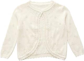 JWWN Toddler Girls Knit Cropped Bolero Shrug Little Kids Long Sleeve Open Front Cardigan Sweater, 6Months-6Years