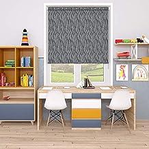 Blinds2Curtains Polyester Black 250 cm x 150 cm Zoe Textured Roller Blind