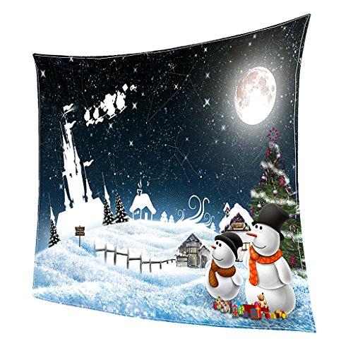 MagiDeal Coperta di Natale Doppio Pile con Stile Natale Stampa Morbido Divano Decorativo Blanket Biancheria da letto