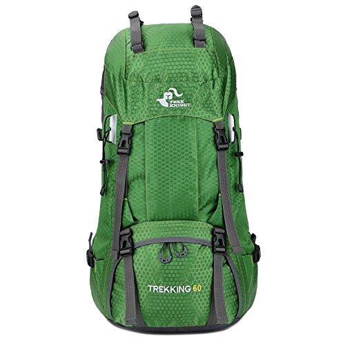 リュックサック、SIMPLE DO バッグパック 60L大容量 背中通気 防水カバー付属 登山用バッグ 通学 旅行 メンズ レディース 防水耐震 雨対策 登山デイパック