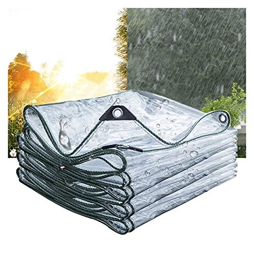WUZMING Lona Transparente, Lonas Impermeables, Exterior A Prueba De Lluvia Lona, Anti-envejecimiento Aislamiento para Cámping Pescar Cubierta De Jardinería (Color : Claro, Size : 2.5x8m)