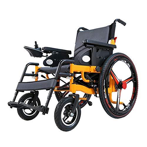 Silla de ruedas eléctrica plegable ligera al aire libre con joystick para adultos discapacitados movilidad portátil portátil