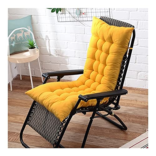 LLLD Cuscino per Sedia Relax Reclinabile Cuscini per Lettini Prendisole da Giardino di Ricambio Spessi per Poltrona Reclinabile per Interni All'aperto Senza Sedie (Color : Yellow, Size : 170 * 48cm)
