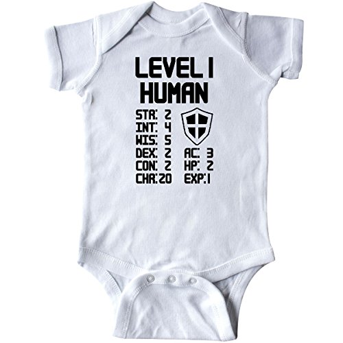 inktastic Level 1 Human Infant Creeper 6 Months White