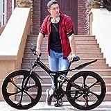 26in Mountain Bike 21 Speed Aluminum Full Suspension Road Bike Disc Brakes, 700c【Ship from USA】 (B)
