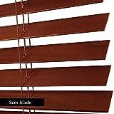 WENZHE Holzjalousie Jalousien Fenster Sichtschutz Holz Jalousette Rollos Massivholz Redwood Sonnenschirm Zuhause Fenster Dekoration - Größe Anpassbar (Color : 50mm, Size : 90x160cm)