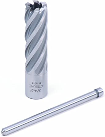 "1-1//8/"" X 2/"" TiAlN coating HSS annular cutter with 3//4/"" weldon shank /& pilot pin"